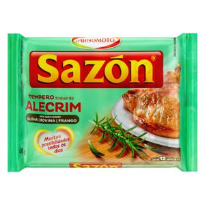 Tempero para Carnes Toque de Alecrim Sazón Pacote 60g 12 Unidades