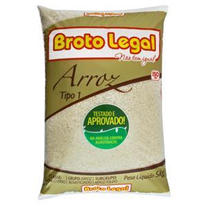 Arroz Polido Tipo 1 Broto Legal Pacote 5kg