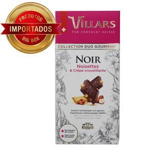 Chocolate Suiço Villars Amargo com Avelãs e Biscoito 180G