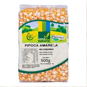 Milho de Pipoca Amarela Orgânica (500g)