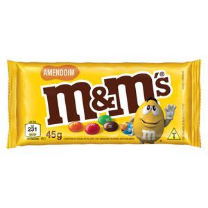 Confeito de Chocolate ao Leite com Amendoim M&M's Pacote 45g