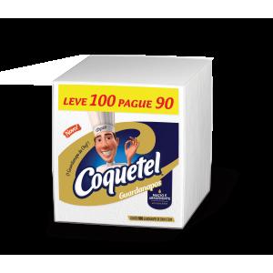 Guardanapos COQUETEL Pequeno 21,5cmx23cm Leve 100 Pague 90 Unidades