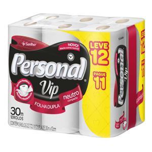 Papel Higiênico Folha Dupla LV 12 pague 11 Personal Vip