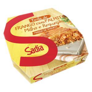 Torta com Massa de Iogurte Recheio Frango com Palmito, Milho e Requeijão Sadia Caixa 500g