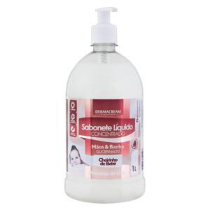 Sabonete Líquido Concentrado Mãos & Banho Cheirinho de Bebê Dermacream Proteínas do Leite Frasco 1l