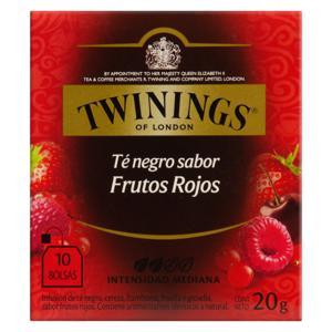Chá Preto Frutas Vermelhas Twinings Caixa 20g 10 Unidades