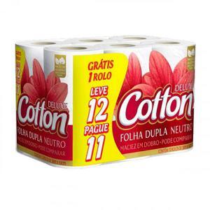 Papel Higiênico Folha Dupla LV12 Pague 11 un Cotton