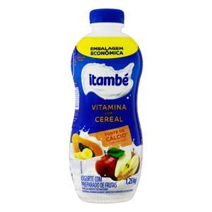 Iogurte Parcialmente Desnatado Vitamina com Cereal Itambé Garrafa 1,25kg Embalagem Econômica