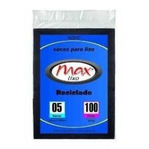 Saco para Lixo MAXLIXO Reforçado Preto 100L