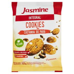 Biscoito Cookie Integral Castanha-do-Pará Jasmine Pacote 150g