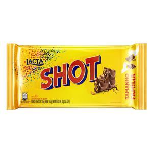 Chocolate ao Leite com Amendoim Lacta Shot Pacote 165g Tamanho Família