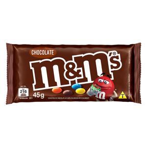 Confeito de Chocolate ao Leite M&M's Pacote 45g