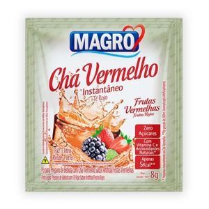 Chá vermelho instantâneo sabor frutas vermelhas Magro - sachê de 8 g