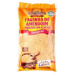 Farinha de Amendoim Torrado sem Açúcar Integral DaColônia Pacote 500g