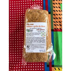 Pão com Tahine e Grão de bico s/glúten 450gr