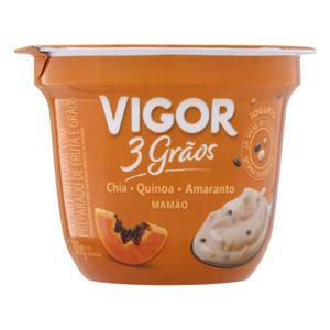 Iogurte Integral Mamão Vigor 3 Grãos Pote 100g