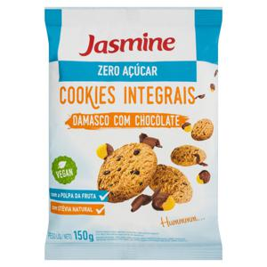 Biscoito Cookie Integral Damasco com Chocolate Zero Açúcar Jasmine Pacote 150g