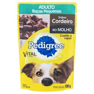 Alimento para Cães Adultos Raças Pequenas Cordeiro ao Molho Pedigree Vital Pro Sachê 100g