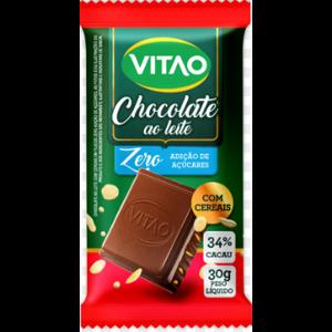 Chocolate ao Leite com Cereais Zero Açúcar Vitão 30g