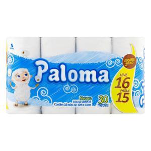 Papel Higiênico Neutro PALOMA Leve 16 Pague 15X30M