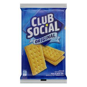Pack Biscoito Original Club Social Pacote 144g 6 Unidades