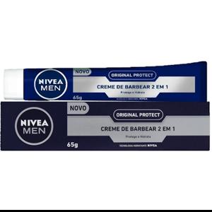 Creme de Barbear 2 em 1 Original Protect Nivea Men Caixa 65g