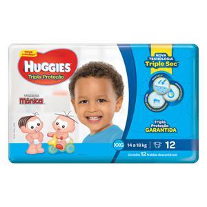 Fralda Descartável Infantil Huggies Tripla Proteção XXG Pacote 12 Unidades