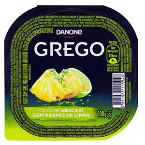 Iogurte Integral Grego Calda Abacaxi com Raspas de Limão Danone Pote 100g