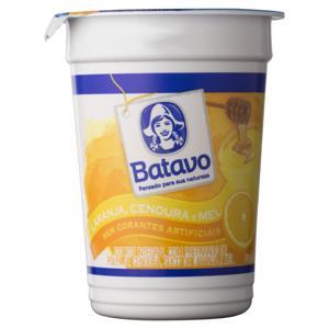 Iogurte Integral Laranja, Cenoura e Mel Batavo Pote 170g
