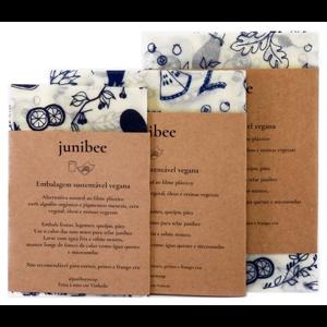 Paninhos de cera vegetal - kit com 3 - Junibee