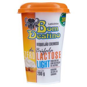 Requeijão de Búfala Light Zero Lactose Bom Destino Copo 200g