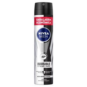 Antitranspirante Aerossol Nivea Men Invisible for Black & White 200ml Embalagem Econômica