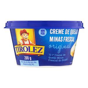 Creme de Queijo Minas Frescal Original Tirolez Pote 200g