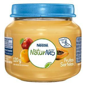 Papinha Frutas Sortidas Nestlé Naturnes Vidro 120g