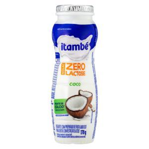 Iogurte Parcialmente Desnatado Coco Zero Lactose Itambé Nolac Frasco 170g