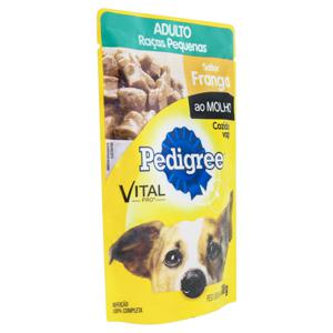 Alimento para Cães Adultos Raças Pequenas Frango ao Molho Pedigree Vital Pro Sachê 100g