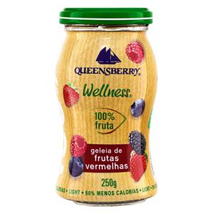 Geleia 100% Fruta Frutas Vermelhas Light Queensberry Wellness Vidro 250g