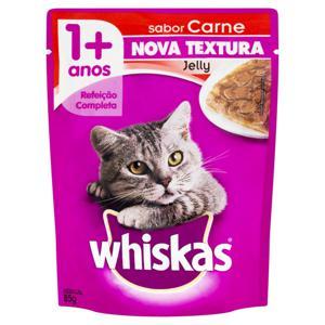 Alimento para Gatos Adultos 1+ Jelly Carne Whiskas Sachê 85g