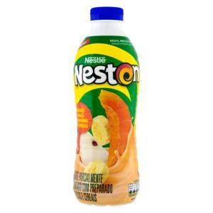 Iogurte Parcialmente Desnatado Mamão, Maçã, Banana e Cereais Nestlé Neston Garrafa 850g