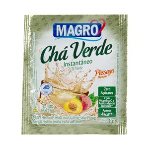 Chá verde instantâneo sabor pêssego Magro - sachê de 8 g