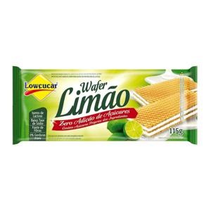 Biscoito Waffer Zero Açúcar Lowçucar Limão  115G