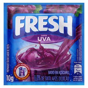 Refresco em Pó Uva Fresh Pacote 10g