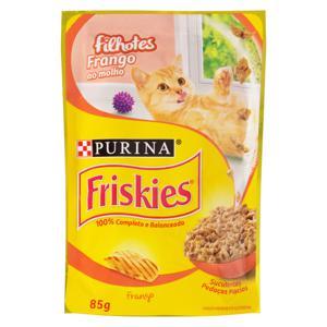Alimento para Gatos Filhotes Frango ao Molho Purina Friskies Sachê 85g