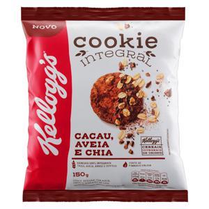 Biscoito Cookie Integral Cacau, Aveia e Chia Kellogg's Pacote 150g