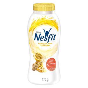 Iogurte Desnatado Maracujá, Aveia e Gengibre Zero Lactose Nestlé Nesfit Frasco 170g