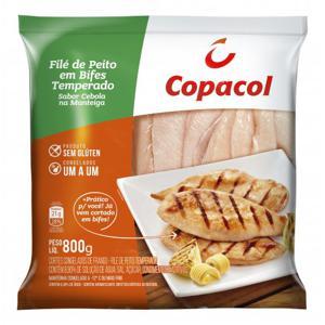 Filé de Peito em Bifes Temperado com Cebola na Manteiga 800g IQF COPACOL