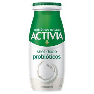 Leite Fermentado Tradicional Zero Lactose Activia Shot Diário Frasco 100g