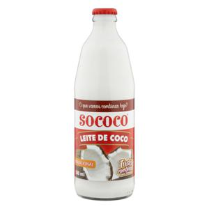 Leite de Coco Tradicional Sococo Vidro 500ml