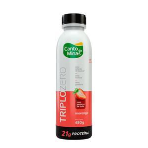 Iogurte Canto De Minas Triplo Zero Morango  480G