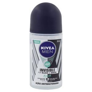 Desodorante Roll-On Nivea Men Invisible for Black & White Fresh 50ml